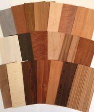40 Big Pieces Domestic & Exotic Mixed Wood Veneer Variety Pack 20 sq. ft. sample