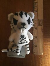 RARE Tokidoki Tiger Plush Doll Keychain - WHITE