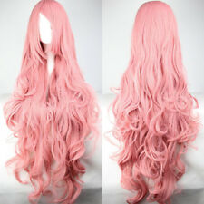 Womens 100cm Long Wavy Curly Hair Synthetic Cosplay Full Wig Wigs Party