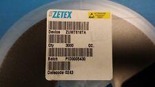 (20 PCS) ZUMT618TA ZETEX Trans GP BJT NPN 20V 1.25A 3-Pin SOT-323 SOT-323