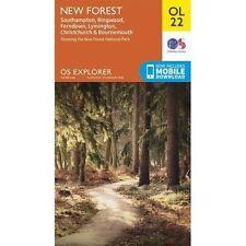 New Forest, Southampton, Ringwood, Ferndown, Lymington, Christchurch and Bournemouth by Ordnance Survey (Sheet map, folded, 2015)