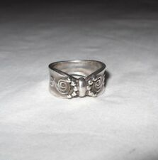 Vintage Sterling Silver 925 Nf Thailand Ring Size 8 Weighs 6 Grams