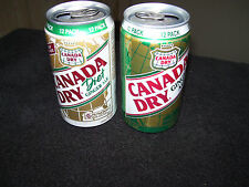 2 Canada Dry Soda Can~Diet Ginger Ale~Diet Ginger Ale~Aluminum~12 Oz