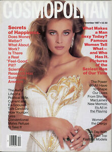 COSMOPOLITAN DECEMBER 1987 FREDERIQUE (COVER) CHARLIE SHEEN *VINTAGE FASHION*