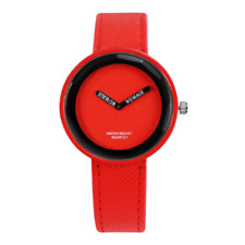 Fashion Women's Watches Leather Ladies Watch Women Watches Young Girl Watch RED