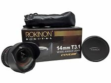 Rokinon 14mm T3.1 Cine Lens for Nikon F Mount *** ENDS SOON ***