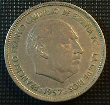 25 PESETAS 1957 *61 - FRANCISCO FRANCO CAUDILLO - ANCIENNE MONNAIE ESPAGNE