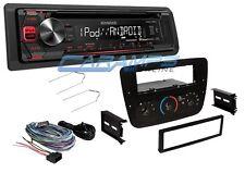 KENWOOD CAR STEREO RADIO RECEIVER W USB & AUX INPUT W COMPLETE INSTALLATION KIT