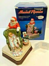 """The Norman Rockwell Museum """"Waiting For Santa"""" 7"""" Musical Handcrafted Figurine"""
