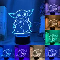 3D LED veilleuse animaux modèle 7 changement couleur lampe bureau lampe tactile