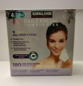Kirkland Signature Daily Facial Towelettes 180 Pre-Moistened Towelettes