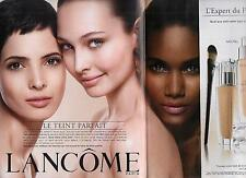 ▬► PUBLICITE ADVERTISING AD Lancôme 2 pages fond de teint  2012