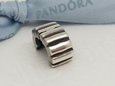 Authentic Genuine Pandora Sterling Silver Ribbed Clip - 790163