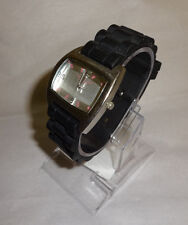 Kenneth Cole Reaction For Her Silver Tone Analog Watch Jelly Band New Battery!