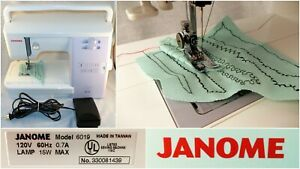 Janome Quilters Companion 6019 Sewing Machine Embroidery Applique W/Accessories