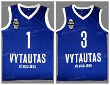 LaMelo Ball 1 LiAngelo Ball 3 Lithuania Vytautas Basketball Jersey Blue Printed