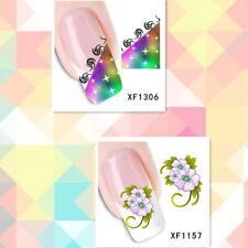 2Sheet/Rotate Stylish and Beautiful DIY Nail Stickers XF1306+1157