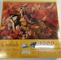 """New Sealed SunsOut - ORCHIDS  by  Nene Thomas - 1000-Piece Jigsaw Puzzle 19×30"""""""
