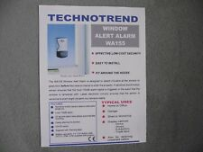 4 x Window Vibration Security Alarm by Technotrend (incl. batteries)