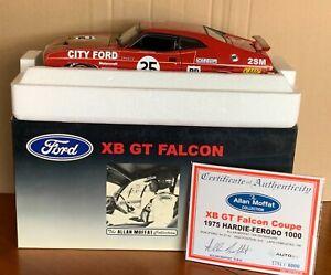 AutoArt/Biante XB GT Falcon Coupe #25 City Ford 1975 Bathurst Moffat SIGNED 1:18
