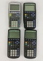 Lot of 4 Texas Instruments TI-83 Plus Graphing Calculators Silver Parts Repair