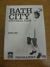 20/10/1979 Bath City v Wealdstone  (Faint Marks). Footy Progs (aka bobfrankandel