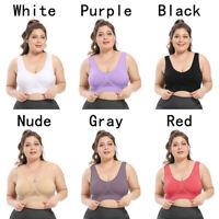 Women Sports Bra Size Large Underwear Nylon Casual S-6XL Solid Ladies Fashion