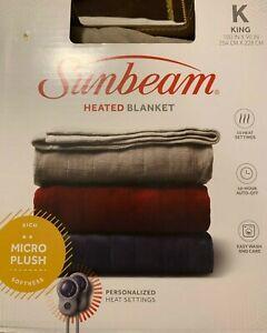Sunbeam King sized heated blanket - Beige - NEW