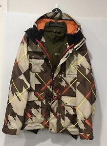Oakley Battalion Snow Jacket 3 In 1 Ski Snowboarding Outdoors Size L Loose Fit