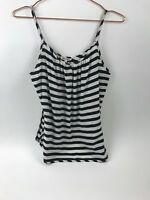 Juicy Couture Women's Strap Top Black White Size Large