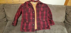 Vintage Woolrich Plaid Wool Hunting Jacket Mens Size 40 Coat