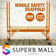 450KG(1000lbs) Mobile Safety Scaffolding Ladder High Scaffold Work Platform Tool