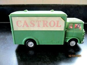 "Vintage TELSALDA Model Bedford Box Van Castrol Delivery 6.5"" long 1960s Friction"