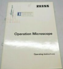 Zeiss Operation Microscope Operating Instructions