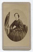 CDV WOMAN WITH LACE GLOVES.  WASHINGTON, PA.