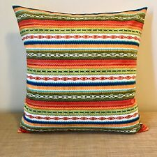 "18"" (45cm) Striped Mexican Pattern Cushion Pillow Cover. Made Australia"