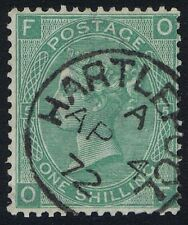 1867 SG 117 1/- Green Pl 5 OF Hartlepool CDS Superb Used Cat. £45.00