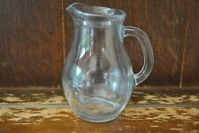 A Lovely Simple Clear Glass Milk/Water Jug - 12cm Tall