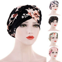 Women Cotton Casual Sleep Turban Caps Turbantes Headwear Hat Solid Head Wrap New