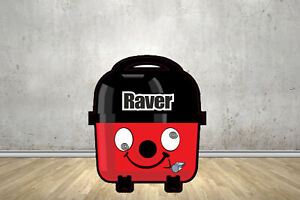 Raver Face Replacement Stickers Fits Henry Hoover Bags Parts Tools Accessories