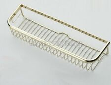 Polished Gold Color Brass Wall Mounted Soap/ Sponge Shower Storage Basket Cba096
