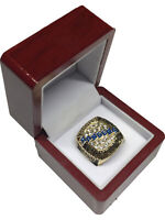 1994 NY Rangers NHL Stanley Cup 18k GP Brass Championship Ring & Wood Box