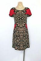 INC INTERNATIONAL CONCEPTS Size S (UK 8 - 10) Dress Black Red Stretch EUC