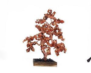 Handmade Carnelian gemstone tree, feng shui wealth tree, healing crystals,