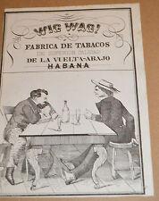 Prior Civil War Wig Wag, Fabrica de Tabacos Habana, Original Cigar Box Label!