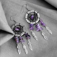 Womens Jewellery Dream Catcher Earrings Purple Stone Fashion Paua Earrings Stud