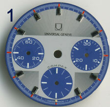 Very rare Universal Geneve Compax dial