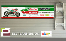 Honda CBR Fireblade Castrol Banner for Workshop, Garage, 1000RR, 600, Pirelli
