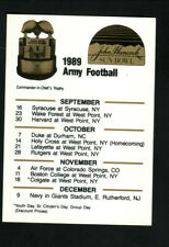 Army Cadets--1989 Football Pocket Schedule