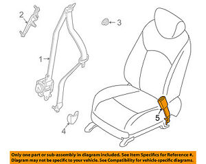 Infiniti NISSAN OEM 09-13 FX50 Front Seat Belt-Buckle Left 868431BA0C